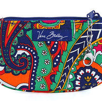 Vera Bradley Clip Zip Id Case Venetian Paisley Wallet Gift Card Holder New Photo