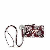 Vera Bradley Collegiate Zip Id Case and Lanyard Combo Multiple Teams Availabl... Photo