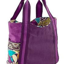 Vera Bradley Colorblock Tote Plum Crazy New With Tags Photo