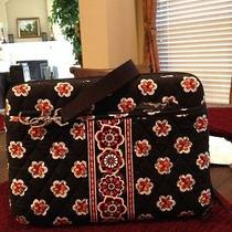 Vera Bradley Computer Case Bag With Black Adjustable Shoulder Strap Euc Photo