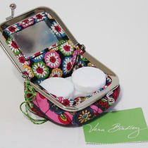 Vera Bradley Contact Case & Mirror Coin Jewelry Medicine Bag - New Photo