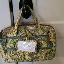 Vera Bradley Cosmetic Lunch Bag W Name Tag in Lemon Parfait Pattern Great Shape Photo