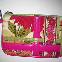Vera Bradley Cotton Hello Dahlia Bangle Wristlet Wallet Photo