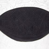 Vera Bradley Crescent Cosmetic Black Microfiber Quilted Wallet Great Retired Photo