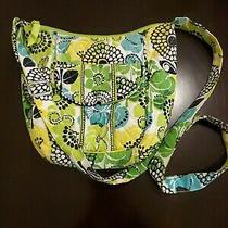 Vera Bradley Crossbody Floral Tote Green Yellow Blue Black White Nwot Limes Up Photo