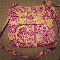 Vera Bradley Crossbody Purse Yellow and Pink Photo