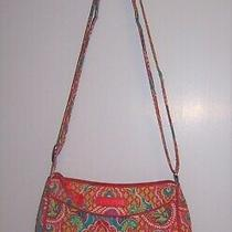 Vera Bradley Crossbody Soft Quilted Turquoise Pink Green Purse Photo