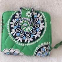 Vera Bradley Cupcakes Green Pattern Mini Zip Wallet Nwot 2010 Photo