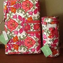 Vera Bradley Diaper Changing Pad Clutch Lilli Bell & Baby Bottle or Food Caddy Photo