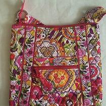 Vera Bradley Disney Bouncing Bouquet Mickey Minnie Large Hipster Bag Purse Nwt S Photo