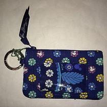 Vera Bradley Disney Dreaming Zip Id Case Wallet Blue Mickey Minnie Nwt  Photo
