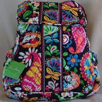 Vera Bradley Disney Midnight With Mickey Backpack Nwt Free Earrings  Shipping  Photo
