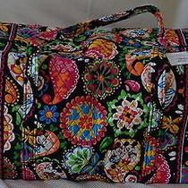 Vera Bradley Disney Midnight With Mickey Large Duffel Bag  Free Earringsship Photo