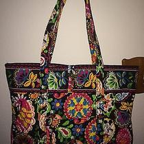 Vera Bradley Disney Midnight With Mickey Xl Tote Bag Minnie Nwt Photo