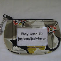 Vera Bradley Dogwood Clip Zip Id/key Ring/case New With Tags Free Shipping Photo