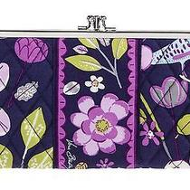 Vera Bradley Double Clutch Kisslock Wallet Id Iphone Card Case Purse 44 - Tags Photo