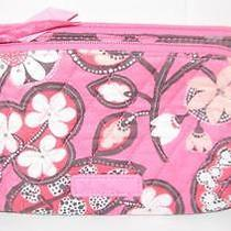 Vera Bradley Double Zip Cosmetic Case in Blush Pink Print Nwt Photo