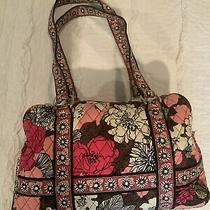 Vera Bradley Duffel Shoulder Tote Bag Luggage Retired Mocha Rouge Photo