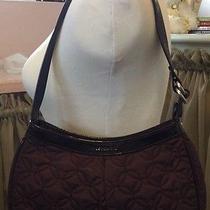 Vera Bradley Encore Shoulder Bag Wine Euc Photo