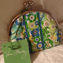 Vera Bradley English Meadow Double Kiss Kisslock Coin Purse Photo