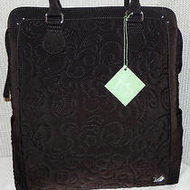 Vera Bradley Espresso Brown Microfiber North South Tote New With Tag Photo