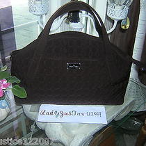 Vera Bradley Espresso Microfiber Handbag  Photo