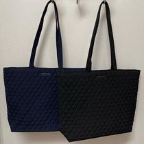 Vera Bradley Essential Tote Bag in Classic Navy or Black - Nwt - Msrp 79 Photo