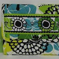 Vera Bradley Euro Wallet Lime's Up Gift Card Holder Stocking Stuffer Nwt Retired Photo