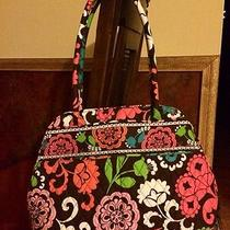 Vera Bradley Floral Shoulder Bag Purse. Bowler Style Bright Colors  Photo