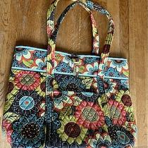 Vera Bradley Flower Shower Get Carried Away Tote Carry on Overnight Bag Photo