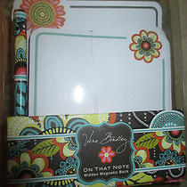 Vera Bradley Flower Shower  on That Note Box Set With Matching Pen- Nwt Photo