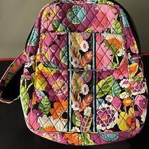 Vera Bradley Flower Va Va Bloom Small Backpack - Pink Black Multi-Color Photo