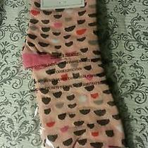 Vera Bradley Foxy Socks Pink Blush Half Moons New With Tags Photo