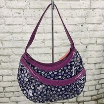 Vera Bradley Frill Bridge Tote and Matching Wallet Blue Purple Floral  Euc Photo