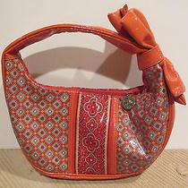 Vera Bradley Frill Paprika Hobo Purse Tote Handbag Bag Small Orange Photo
