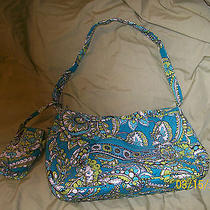Vera Bradley Gently Used Hobo Purse & Cell Phone Case in Peacock Photo