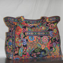 Vera Bradley Get Carried Away Tote in Symphony in Hue Nwt Photo