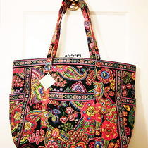 Vera Bradley Get Carried Away Tote Symphony in Hue Nwt Photo