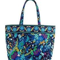 Vera Bradley Grand Tote  Hand/shoulder Bag  in Midnight Blues Nwt Photo