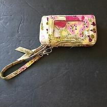 Vera Bradley Green and Pink Wallet/id Case Wristlet Photo