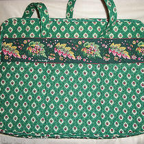 Vera Bradley Greenfield Old Style Diaper Baby Bag Nwot Photo