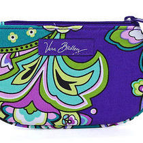 Vera Bradley Heather Clip Zip Id Case Wallet Gift Card Holder New Photo