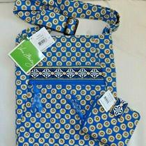 Vera Bradley Hipster Crossbody Purse & Wallet Too - Riviera Blue - Both Nwts Photo