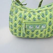 Vera Bradley Hobo Medium Handbag Purse Citrus Lime Green Elephants-Retired-Used Photo
