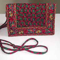 Vera Bradley Holiday 95 Elite Handbag/crossbody Indiana Tag Photo