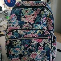 Vera Bradley Iconic Campus Quilted Backpack Garden Grove W/accessories 26468-Q21 Photo