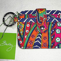 Vera Bradley in a Snap Id Card Case Key Ring Venetian Paisley Nwt Photo