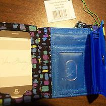 Vera Bradley Indigo Pop Super Smart Wristlet Phone Case & Wallet Nwt 12556-126 Photo