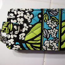 Vera Bradley Island Blooms Iphone Holder/ Keychain Turquoise Black White New Photo