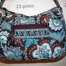Vera Bradley Java Blue Retired Hobo Handbag Beauty Nwot Photo